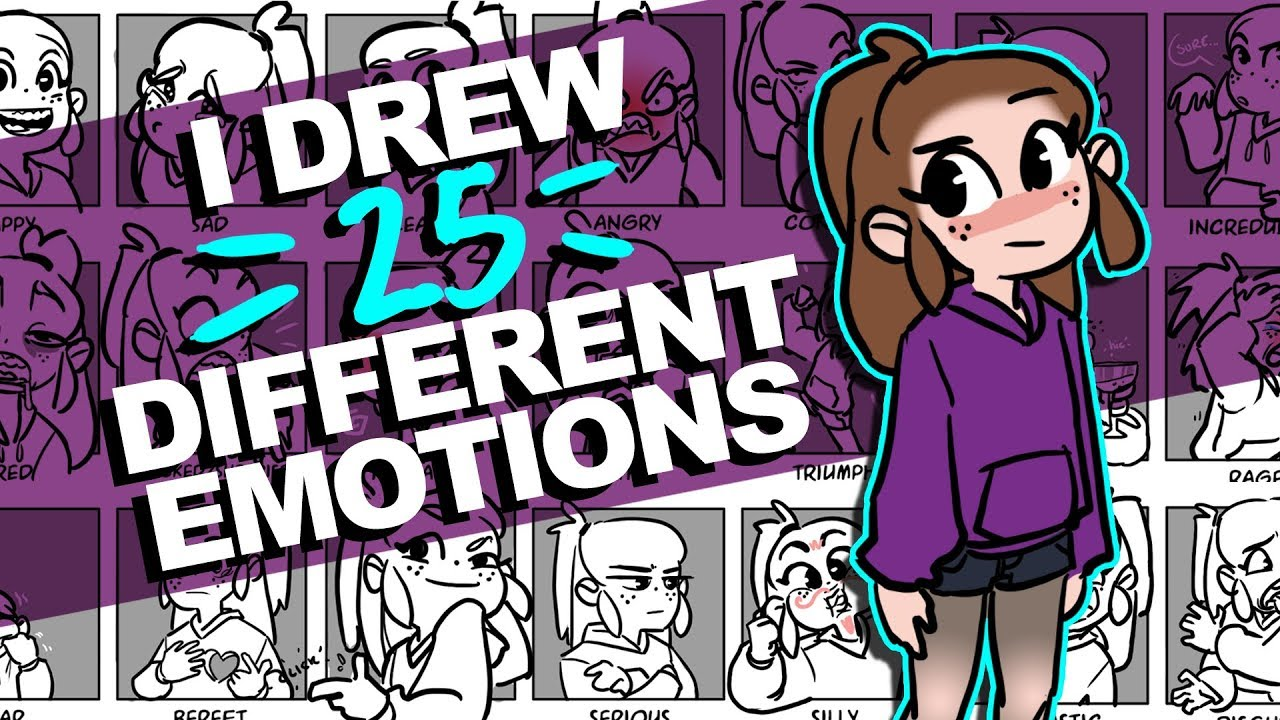 I Drew 25 Different Expressions Woo 25 Expressions Challenge Drawingwiffwaffles