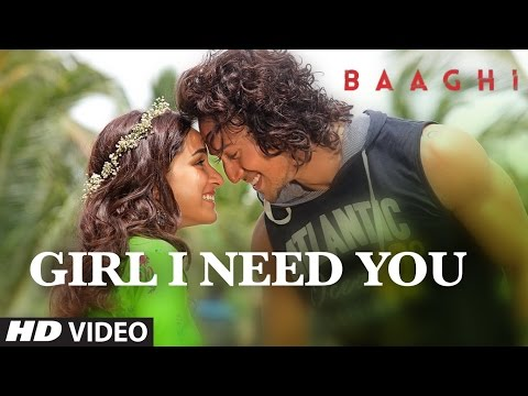 Girl I Need You lyrics with karaoke | BAAGHI | Tiger, Shraddha | Arijit Singh, Meet Bros