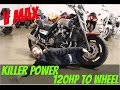 2005 Yamaha V max 120HP to the wheel first test drive : srkcycles.com