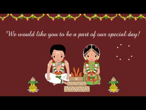 Mangalyam  Tamil Brahmin South Indian Animated Wedding Invitation  YouTube