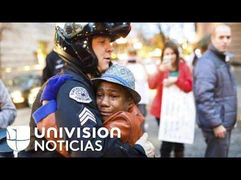 El niño de la foto viral de un abrazo, entre los desaparecidos en un accidente en California