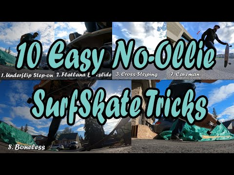 10 SurfSkate Flatland Tricks You Can Do On The Oxelo SurfSkate (or Any Other Board With No Kicktail)