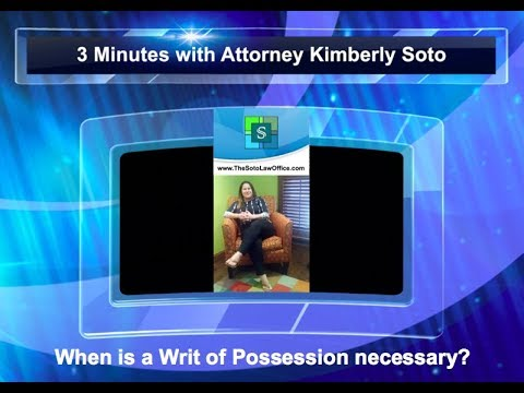 How to obtain a Writ of Possession in Florida