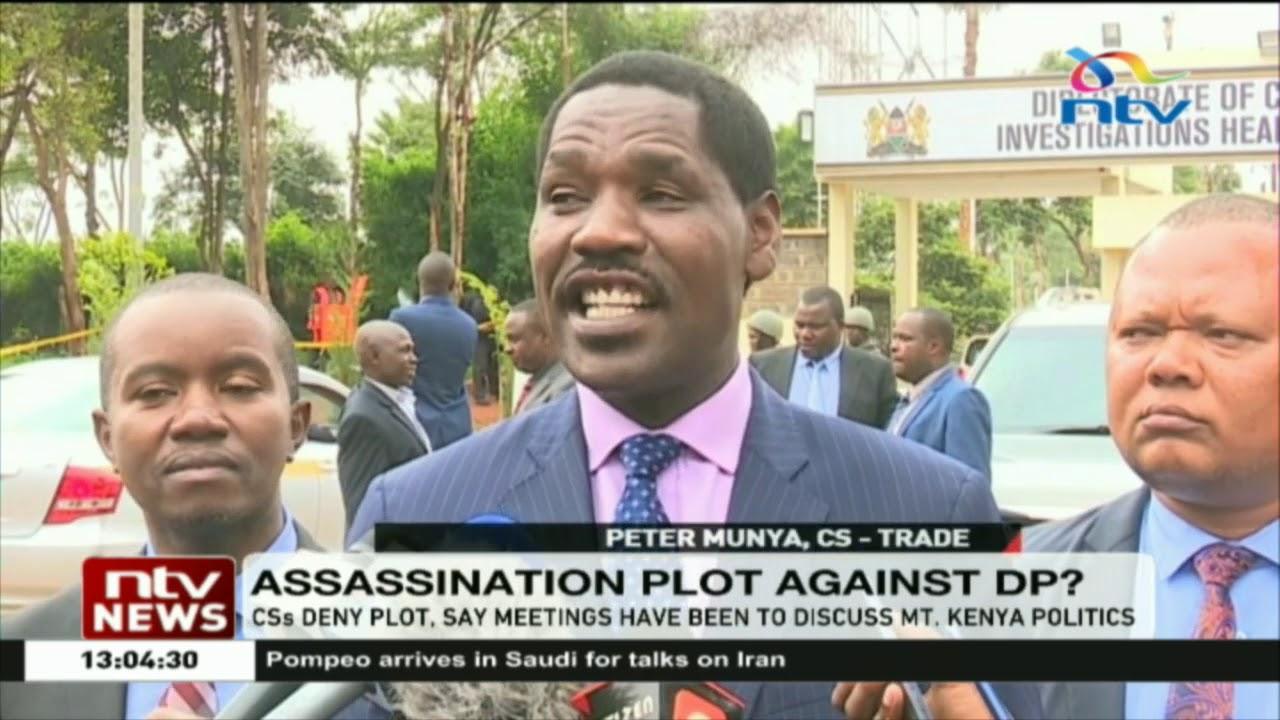 Image result for cs Ruto assassination