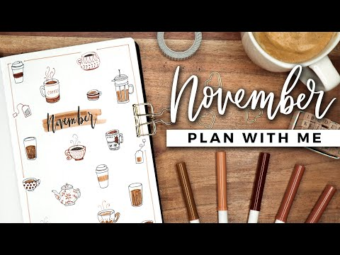 PLAN WITH ME | November 2019 Bullet Journal Setup