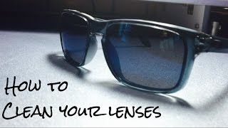 How To Clean Your Sunglass Lenses! (Oakley Holbrook)
