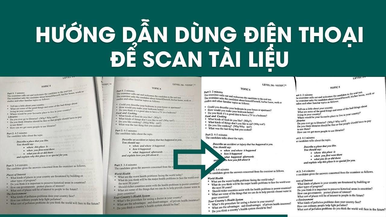 Hướng dẫn sử dụng điện thoại di động để SCAN tài liệu