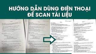 Hướng dẫn sử dụng điện thoại di động để SCAN tài liệu screenshot 3