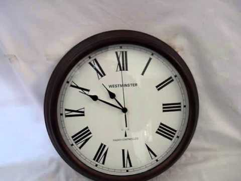 Westminster Radio Controlled Wall Clock Test Video