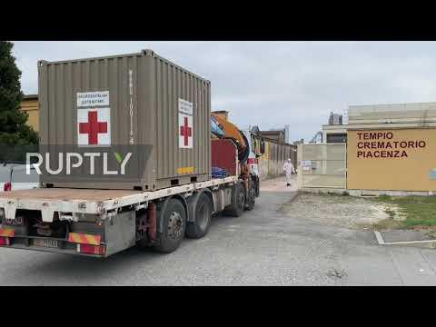 Italy: Piacenza crematorium installs emergency refrigerators as coronavirus coffins pile up