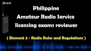 ELEMENT 2 - Reviewer for Philippine Amateur Radio Operator's Licensure