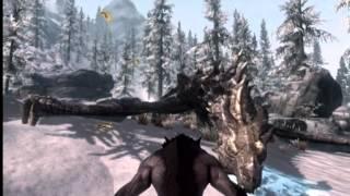 Skyrim: Aela The Huntress Ownage ! Beast Blood Gameplay