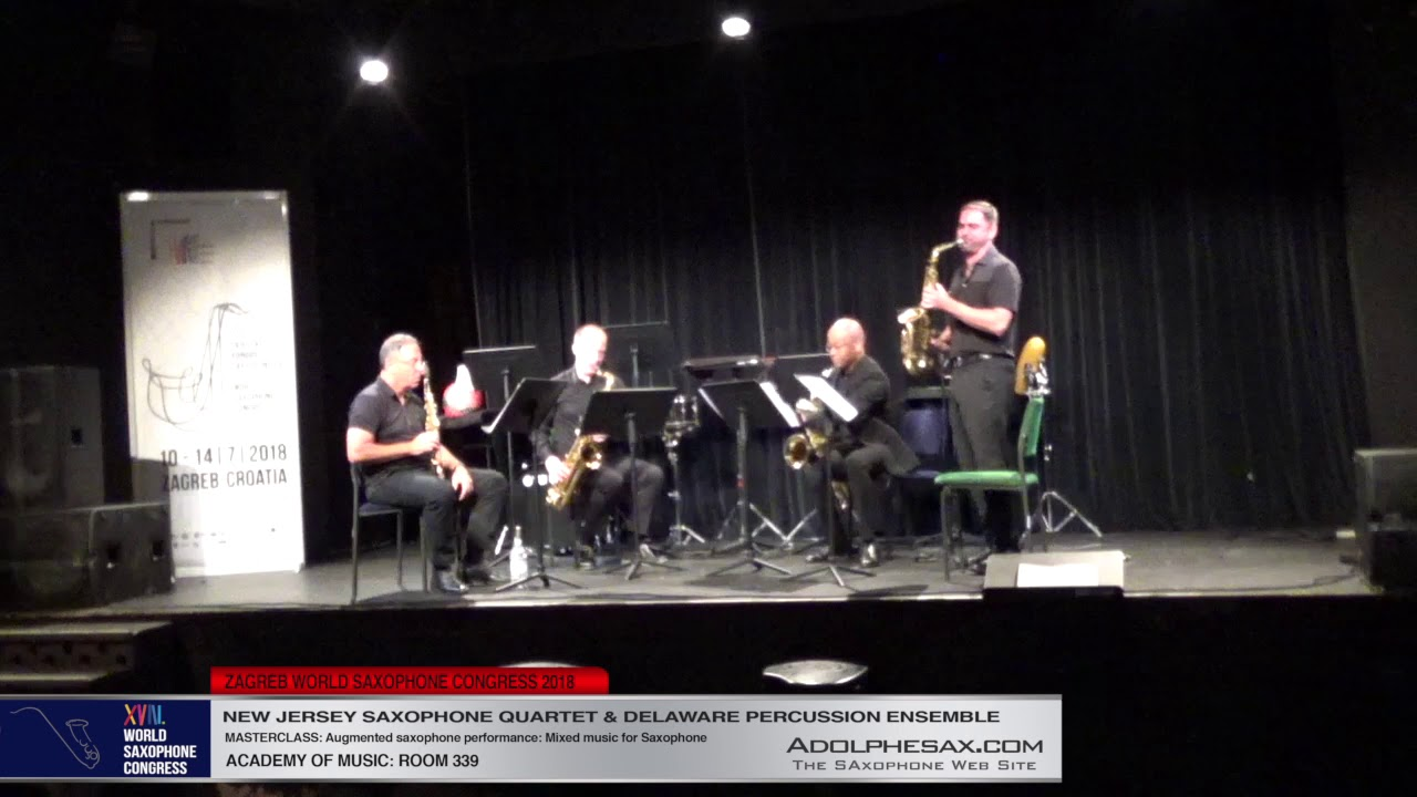 Requiem by Phil Woods   New Jersey  Saxophoen Quartet   XVIII World Sax Congress 2018 #adolphesax