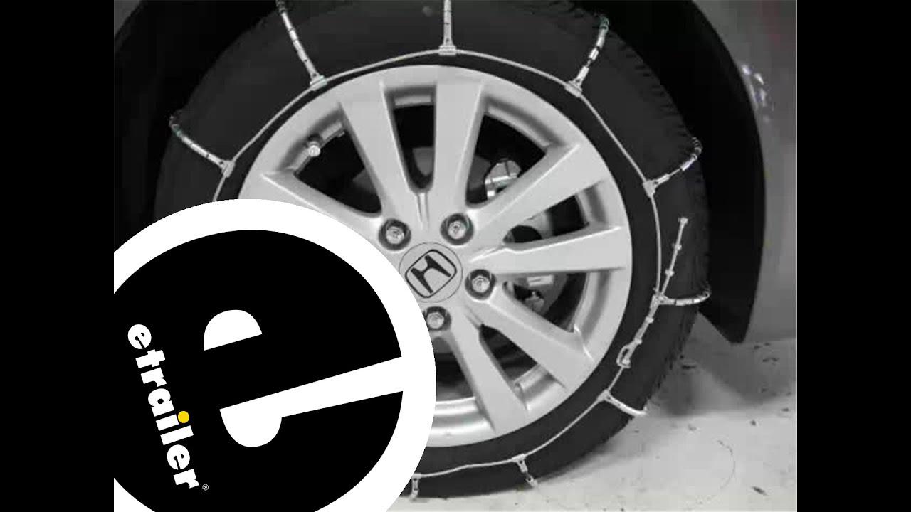 Glacier Cable Snow Tire Chains Review 2012 Honda Civic Etrailer