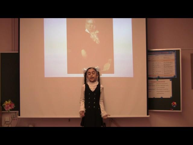 Изображение предпросмотра прочтения – ЛейлаЧопурова читает произведение «Ворона и Лисица» И.А.Крылова