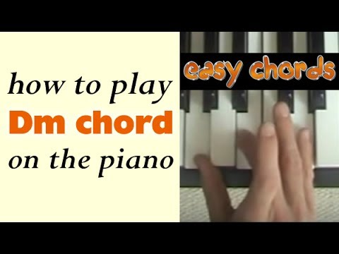 Dm Chord Piano How To Play D Minor Chord On The Piano Youtube
