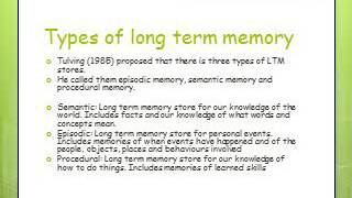 Memory Revision