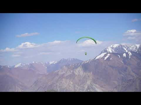 Epic top landing 5000m on the Pamir mountans in Tadjikistan