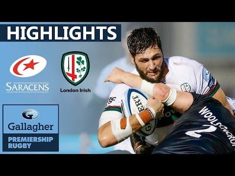 Saracens 16-13 London Irish HIGHLIGHTS | Late Penalty Seals Victory | Gallagher Premiership 2019/20