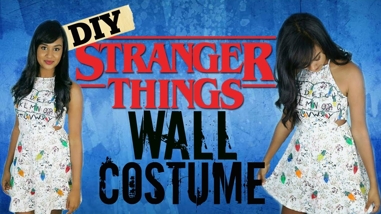 DIY Halloween Costume: STRANGER THINGS WALL - YouTube