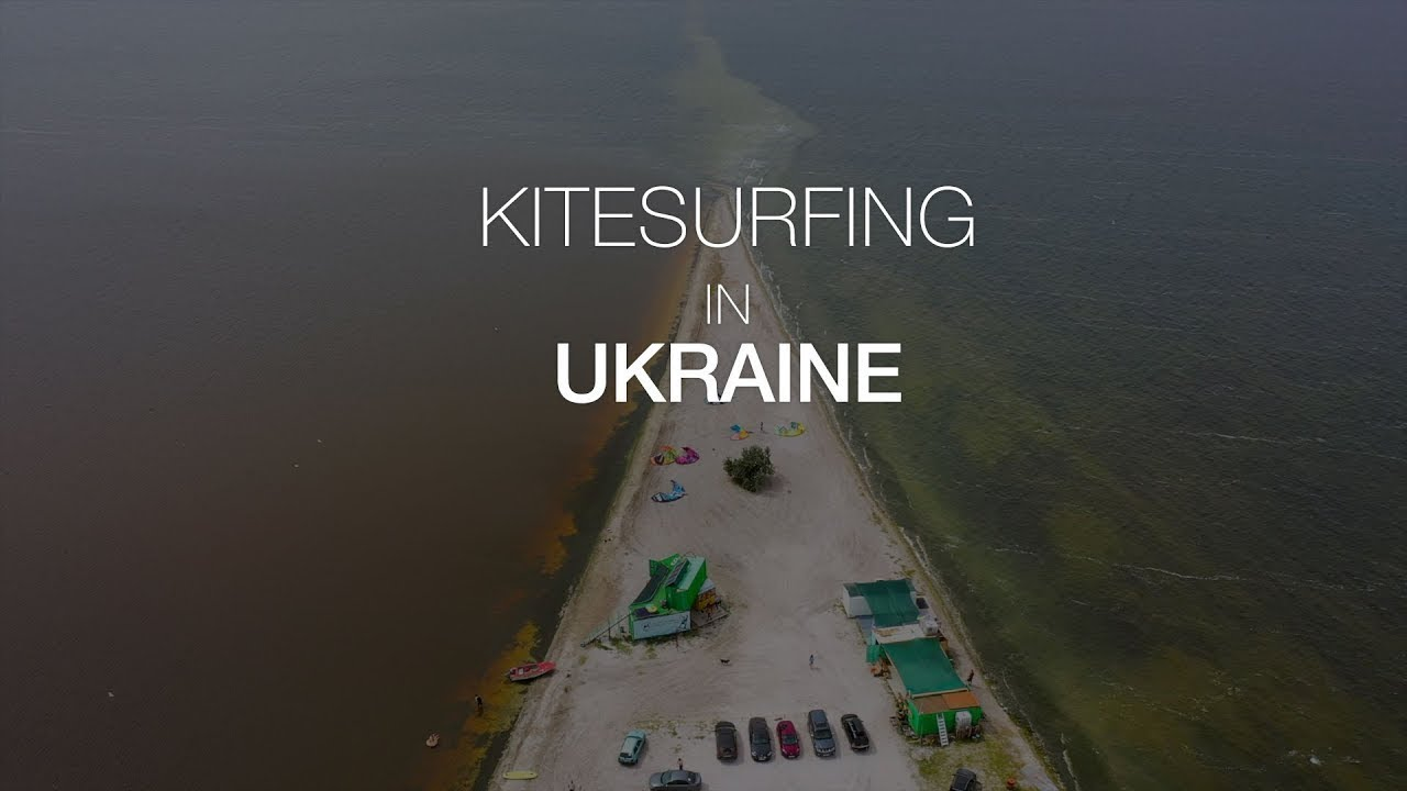 Ukrainian kite surfing. Short Movie