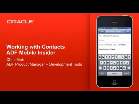 ADF Mobile - Working with Contacts