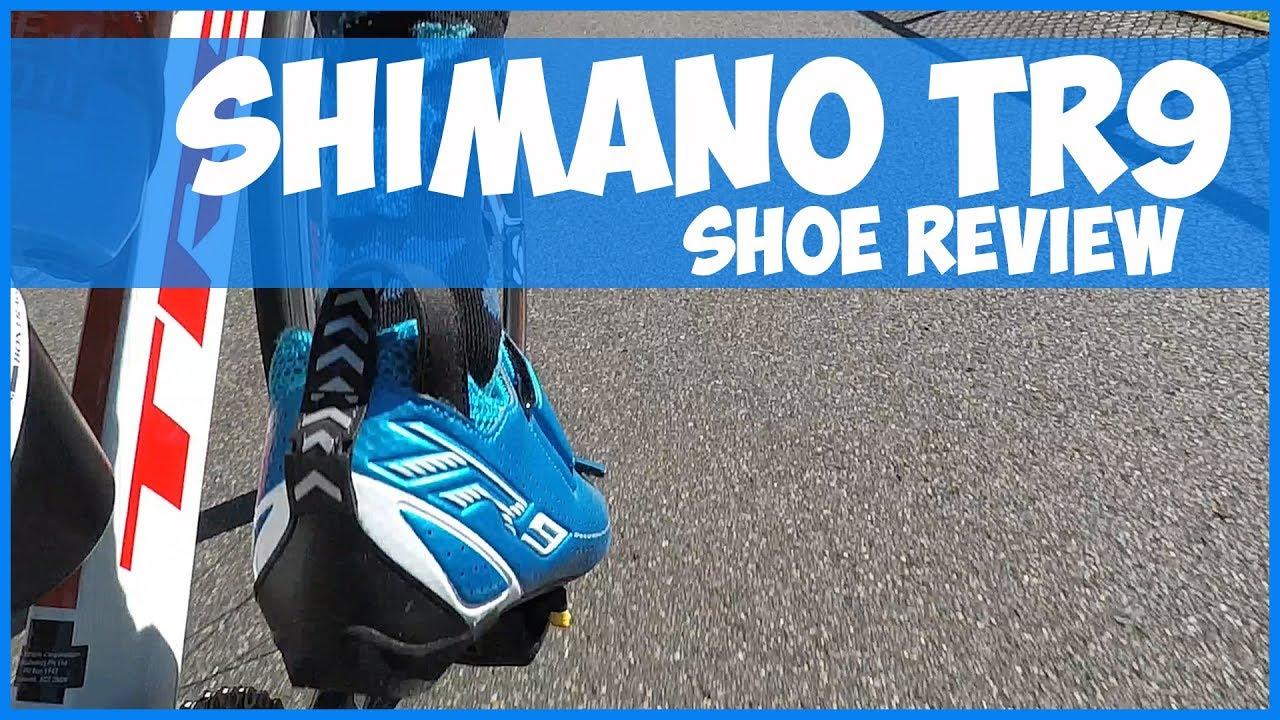 shimano tr9 triathlon shoe review youtube