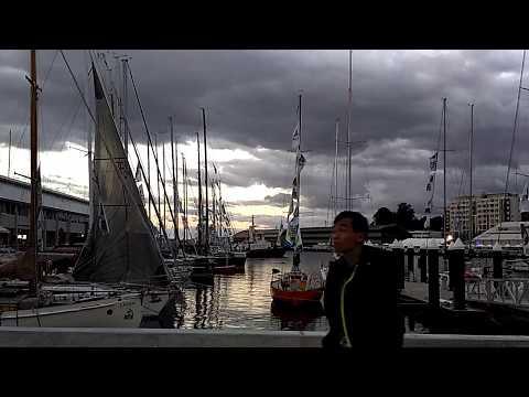 2016.12.30 Sunset at Constitution Dock,  Hobart,  Tasmania