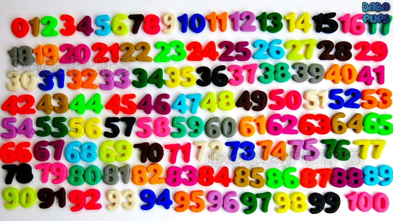 learn to count 0 to 100 play doh numbers counting numbers learn