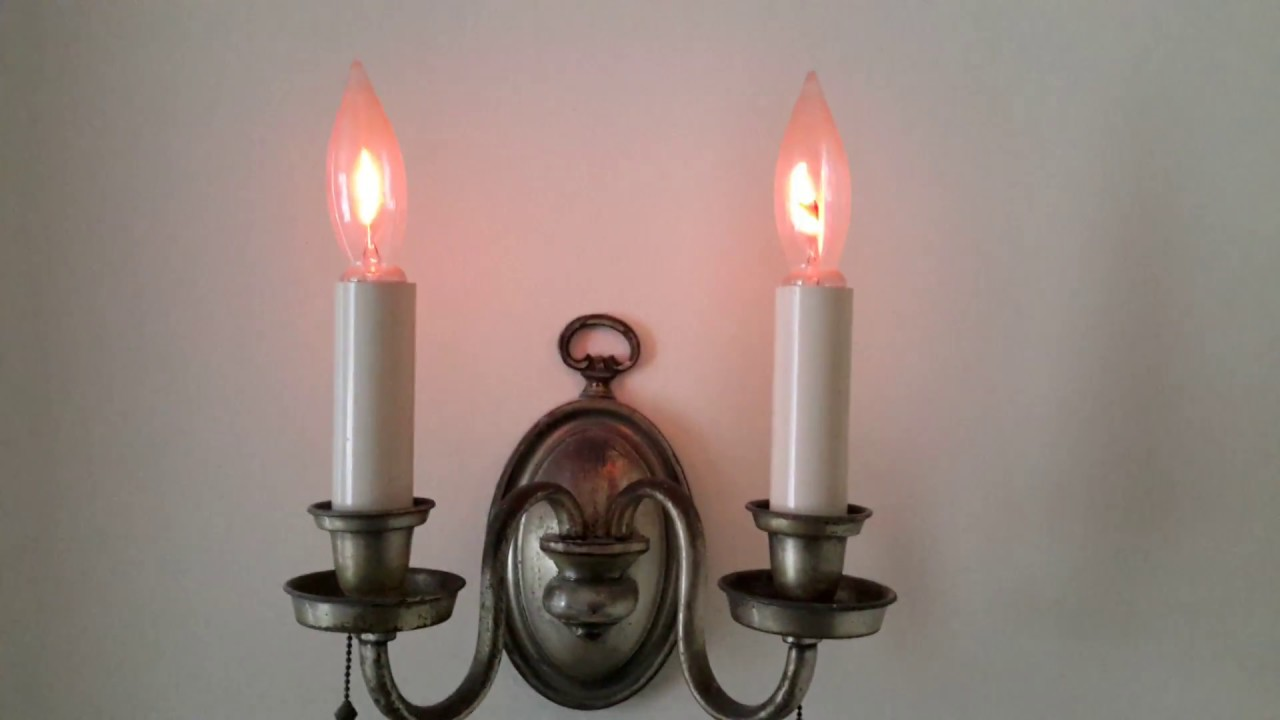 Flicker Flame Lights Beautiful Addition To Vintage Wall Sconces Wiring Sconce