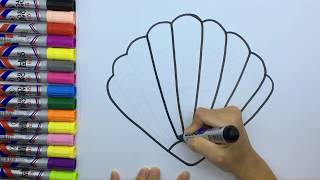 Learn to colors | how to draw kids coloring | coloringpage for toddlers