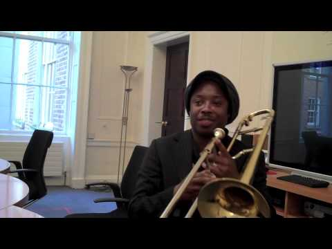 Dennis Rollins performs Soul Journey in a Dublin office