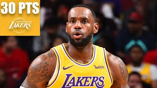 LeBron James records 3rd-straight triple-double with 30 points vs. Bulls | 2019-20 NBA Highlights
