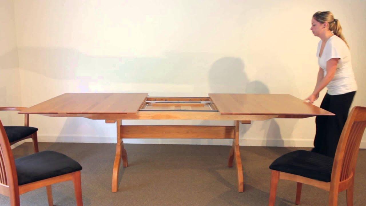 Beautiful Sarah Shaker Trestle Extension Table   YouTube