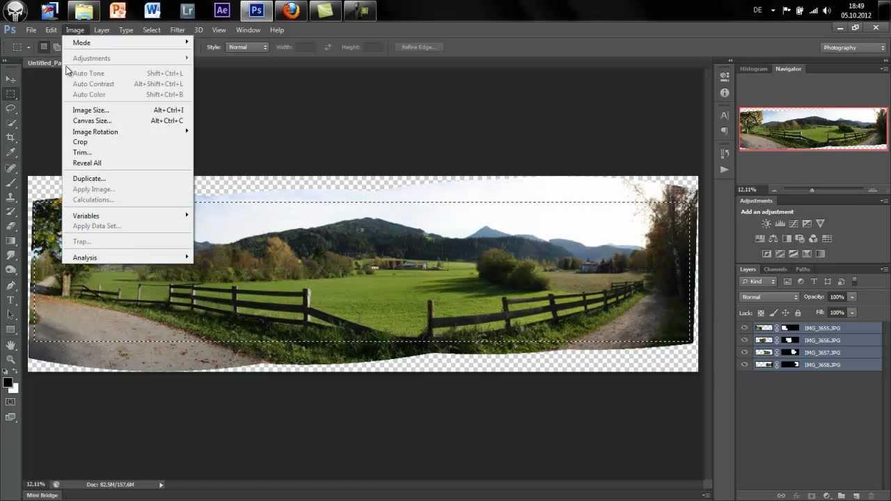 Panoramabilder erstellen photoshop