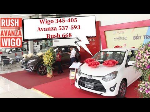 Giá chính thức Toyota wigo, Avanza, Rush 25/9/2018. Liên hệ 0988.488.803