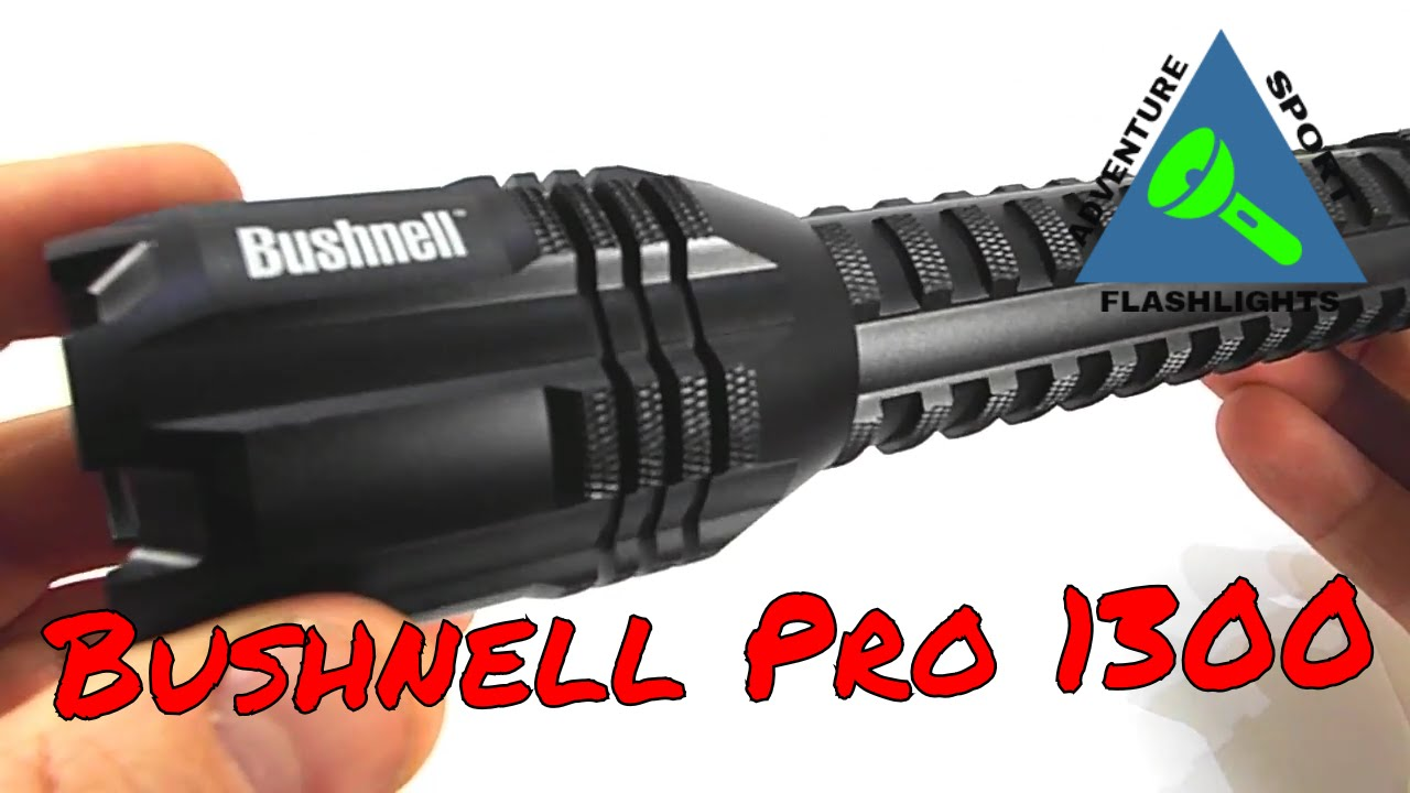 bushnell pro 1300 usb rechargeable flashlight [ 1280 x 720 Pixel ]