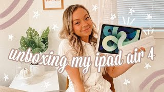 *NEW* IPAD AIR 4 UNBOXING + APPLE PENCIL 2ND GENERATION | first impression and review
