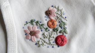 [프랑스 자수] 꽃 하트 자수 (feat. 자수초보) …