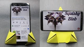 How To Make Paper Mobile Stand Without Glue | DIY Origami Phone Holder | Paper Crafts Work Ideas