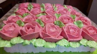 Украшаем торт белково заварным кремом Рецепт ШОКОЛАДНОГО бисквита Cake decoration