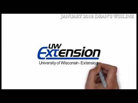 University of Wisconsin Extension - Cooperative Extension January Dean's Video Wisline