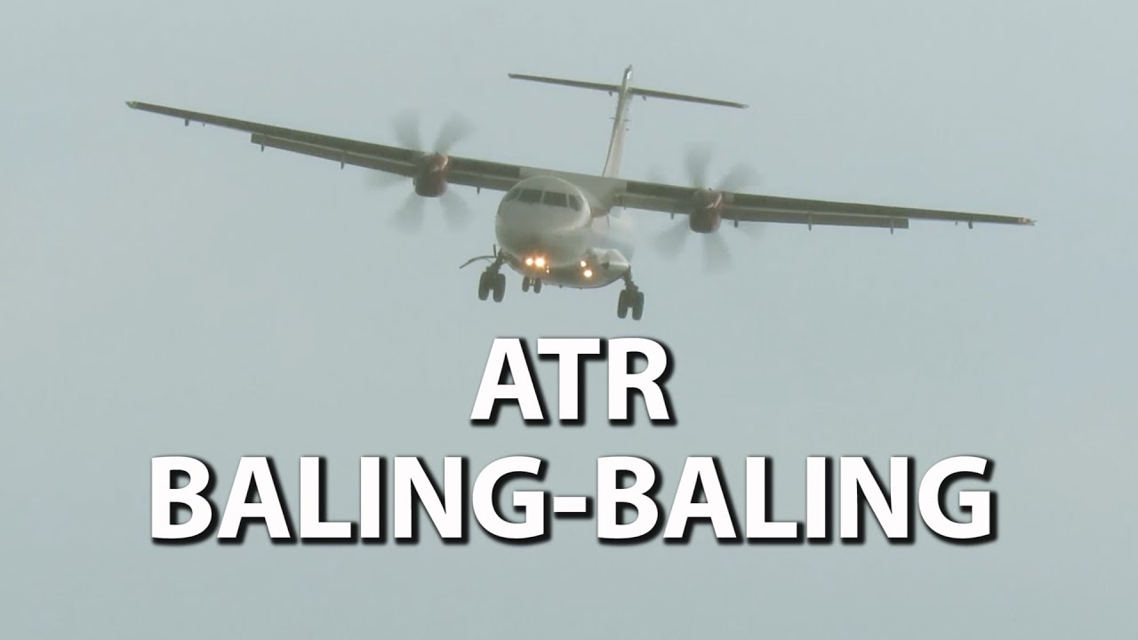 Garuda Indonesia, Wings Air, Kalstar | Pesawat ATR Take Off dan Landing (Pesawat Terbang Indonesia)