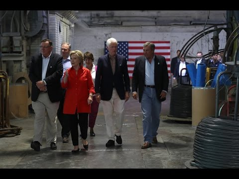 Hillary Clinton's Campaign Tour Makes a Stop at Johnstown Wire Technologies