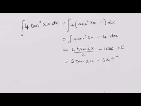 how to take antiderivative of tanx