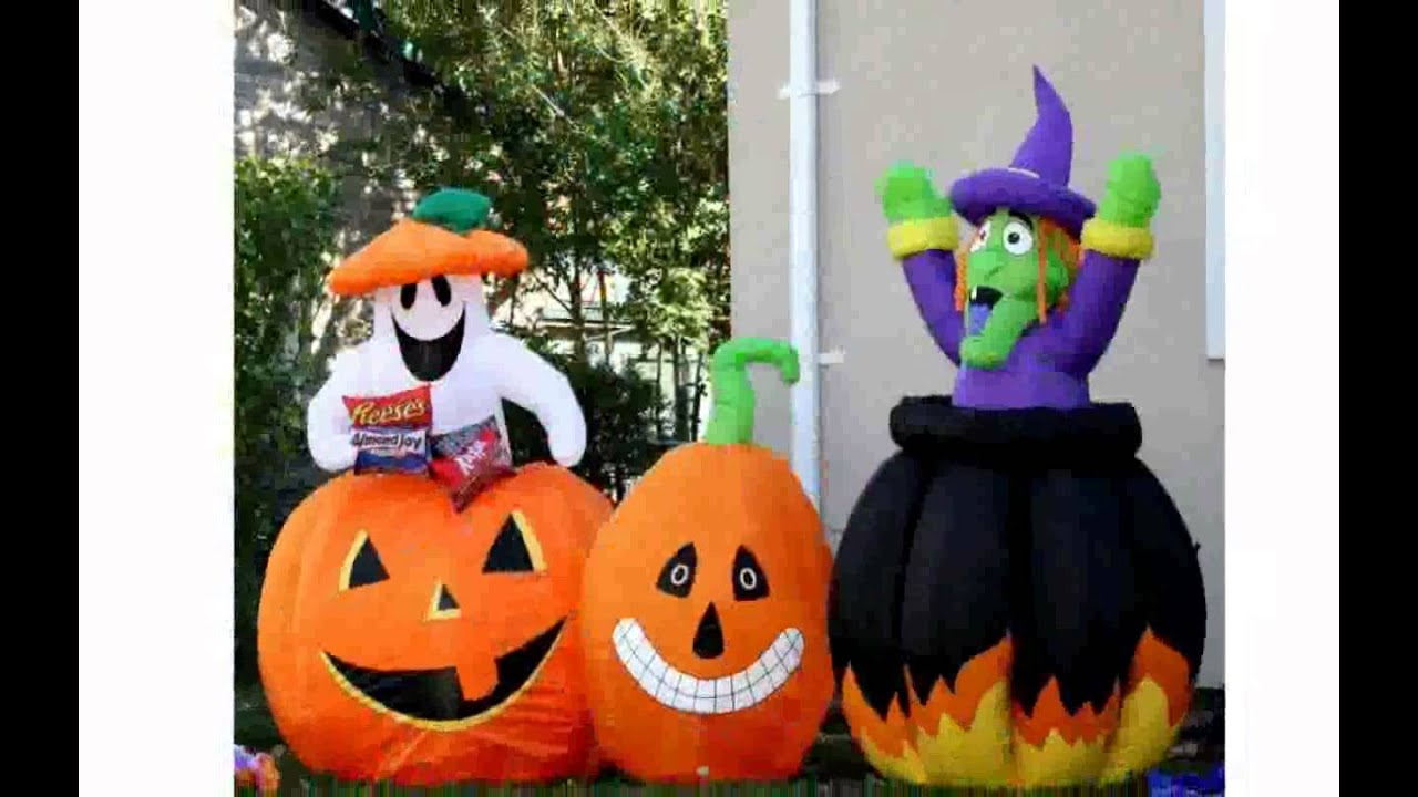 halloween blow up decorations youtube - Blow Up Halloween Decorations