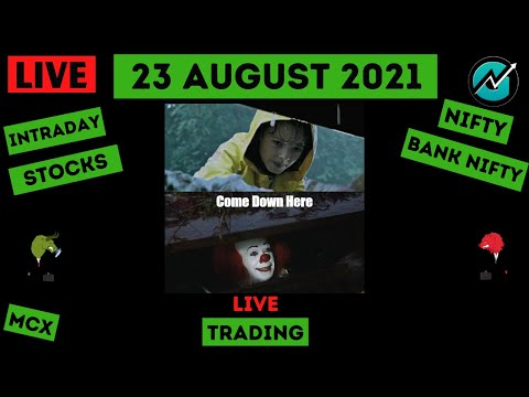 Live Intraday Trading on 23 August 2021 | Nifty Trend Today | Banknifty Live Intraday Strategy Today