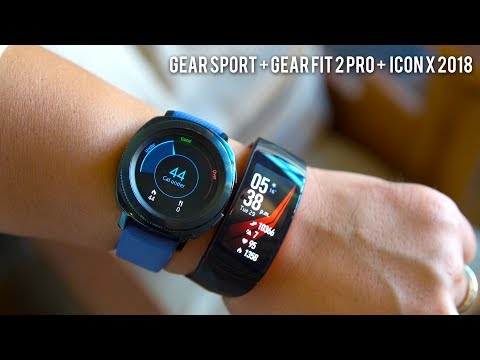 Samsung Gear Sport // Gear Fit 2 Pro //Gear Icon X 2018 Hands On