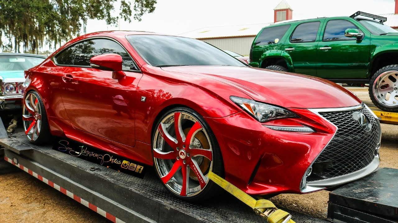 Candy Red Clean Lexus Rc F On Forgiato Wheels In Hd Must