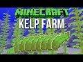 Minecraft 1.13 Super Simple Kelp Farm Tutorial (Snapshot 18w14b)